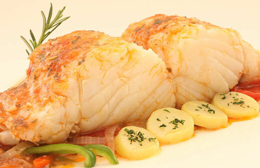 Christmas dining on Norwegian cod