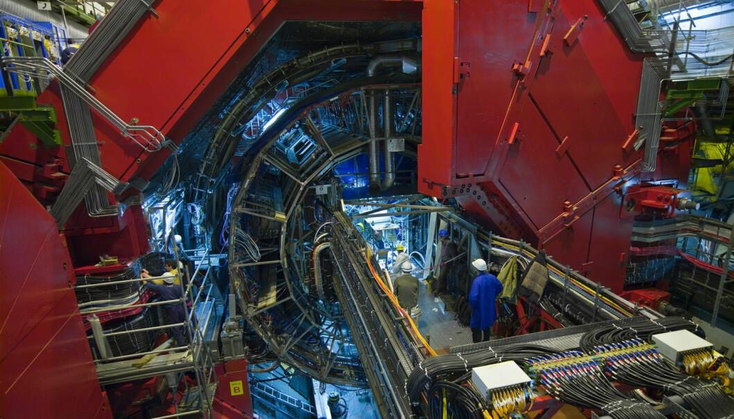 ALICE er en av detektorene som kan oppdage en mørk materie-partikkel. Hvis den finnes.  (Foto: CERN)
