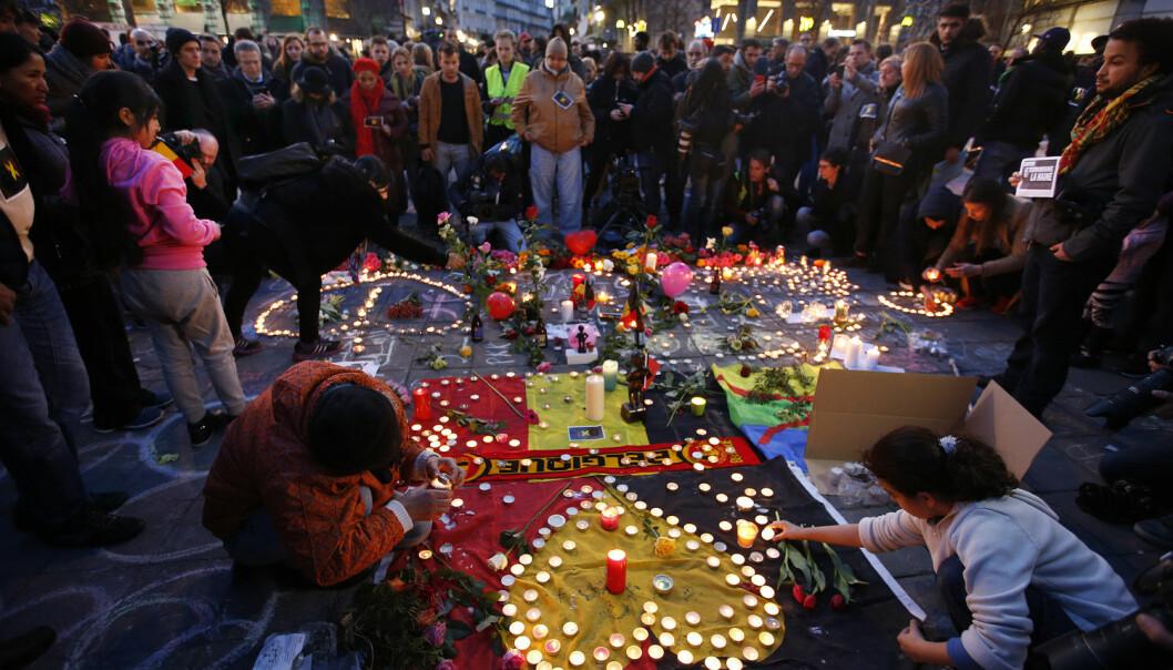 Belgia er i sorg etter tirsdagens terrorangrep.  (Foto: Charles Platiau / NTB Scanpix)