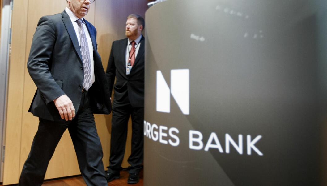 Norges Bank og sentralbanksjef Øystein Olsen åpner for at styringsrenten kan bli negativ.  (Foto: Gorm Kallestad / NTB Scanpix)