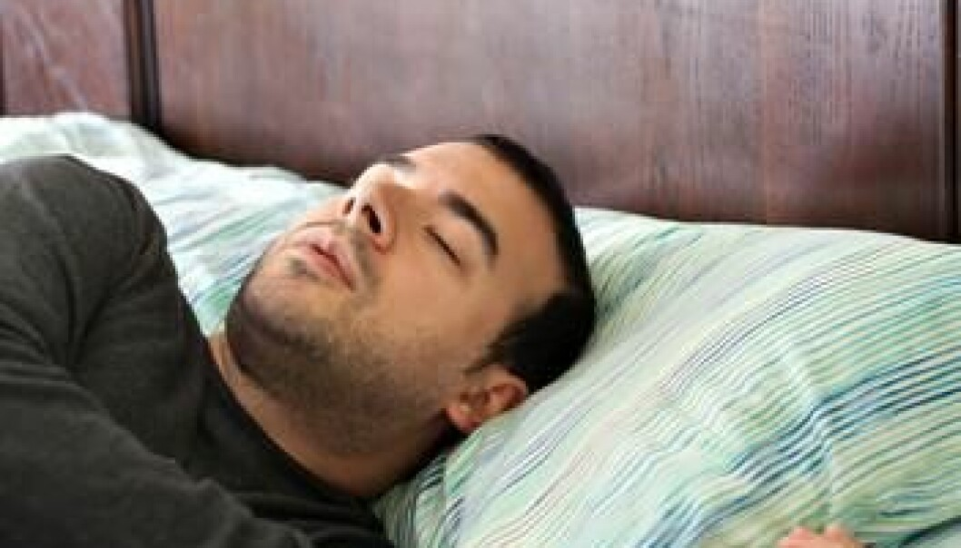 Men in particular are affected by sleep apnoea. Researchers are uncertain whether the condition is associated with psychological conditions. (Illustration photo: Colourbox.com)
