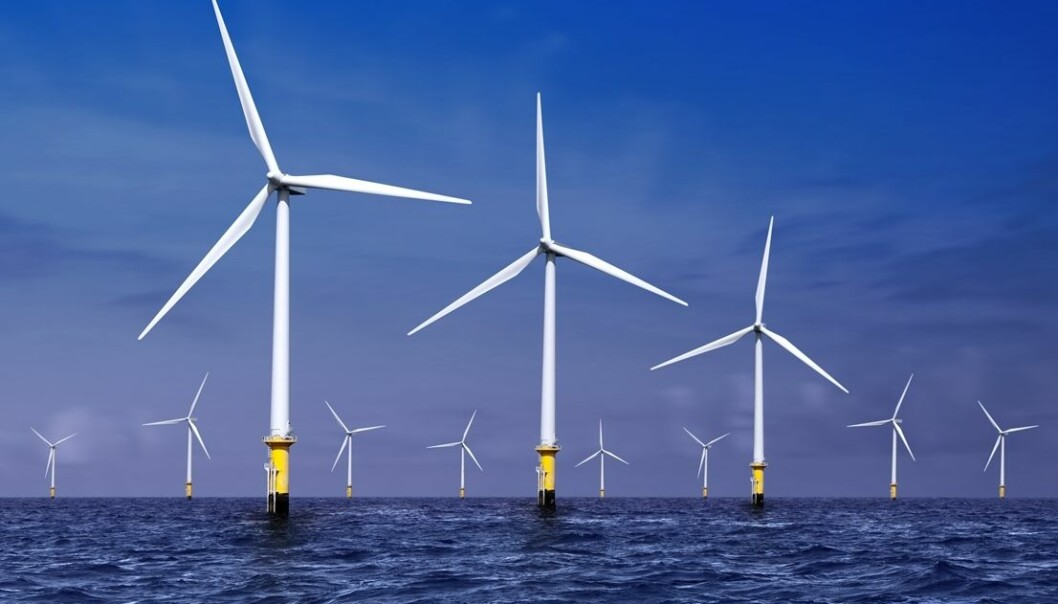 When waves above 13 metres hit wind turbines, an unfortunate force arises at the rear of the turbine. This is called ringing. John Grue is now looking for a general mathematical formula that can explain the special phenomenon. (Photo: Colourbox)
