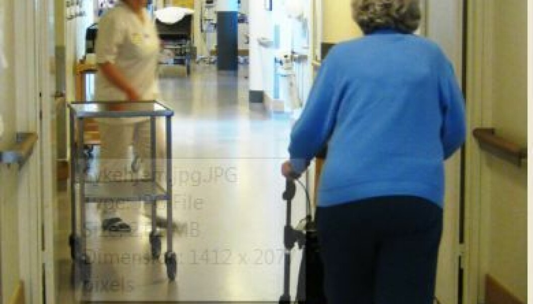 A new floor will prevent injuries in nursing homes. (Photo: Colourbox)