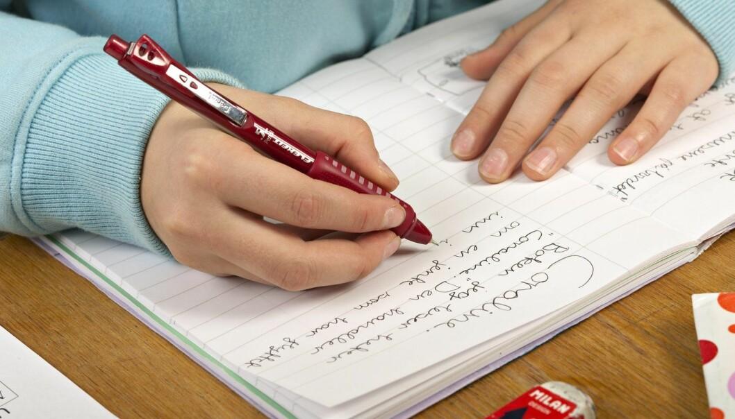 I tekstene de skriver, drar ungdommene i studien veksler på alle språkene de har lært.   (Foto: erstin Mertens, Samfoto, NTB scanpix)