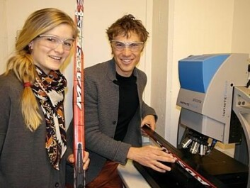Master's student Nora Holst Haaland and doctoral fellow Felix Breitschädel are contributing to Norway's Olympic success. (Photo: Claude R. Olsen)