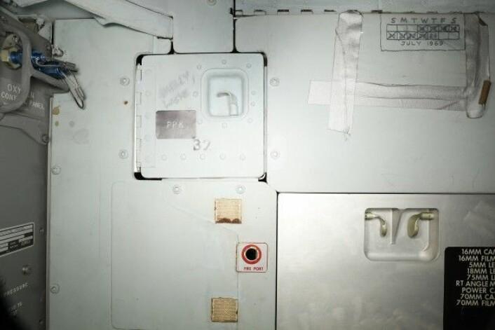 Her kan du tydelig se den lille kalenderen som har blitt tegnet på veggen, øverst i høyre hjørne. (Foto: Smithsonian Institute)