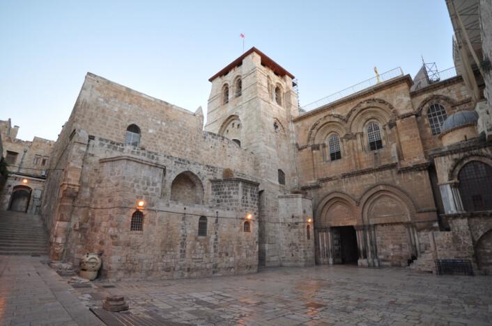 Den hellige gravs kirke i Jerusalem. Kirken ble innvidd i 335 e.Kr., men den har blitt bygget på og om mange ganger siden den tid. (Foto: Jlascar/CC BY SA 2.0)