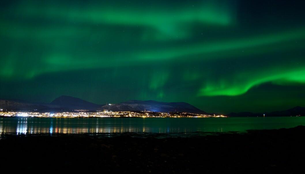 Nordlyset øker unøyaktigheten for boring av oljebrønner. (Illustrasjonsfoto: Colourbox)