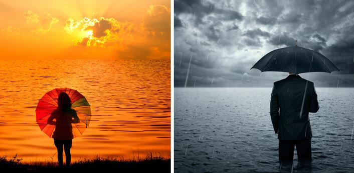 I tropene er lufta varm, og enda varmere blir den av klimaendringene. Da tar den opp mer fuktighet fra havet. Men varm luft kan også holde på mer vanndamp. Noen steder kommer det ikke ned som regn. Disse havområdene kan bli enda tørrere av varmere klima. Fuktigheten fraktes med vinder dit det er kaldere. Her felles fuktigheten ut som regn. Våtere havområder blir våtere. (Foto: (Illustrasjonfotos: Shutterstock))