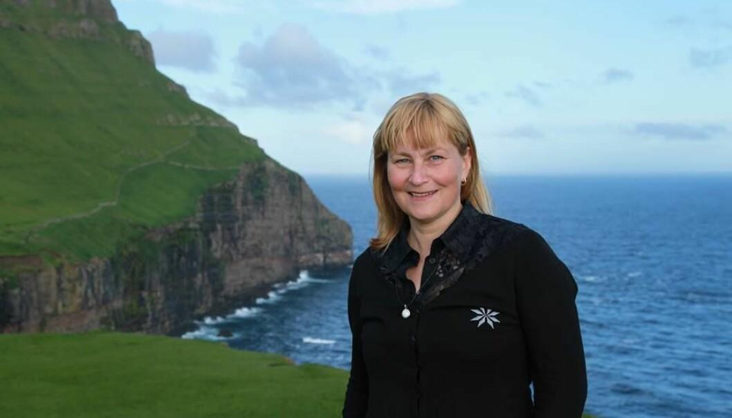 Bjørt Samuelsen led seg gjennom to svangerskap mens hun bodde i Nittedal. Her på Færøyene hvor hun nå bor.  (Foto: privat)