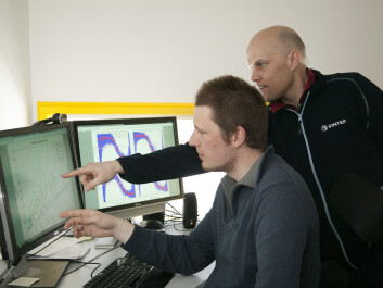 Research scientist Ivar Eskerud Smith (left) and project manager Christian Brekken discuss the results of this unique measurement project. (Photo: SINTEF / Gry Karin Stimo)