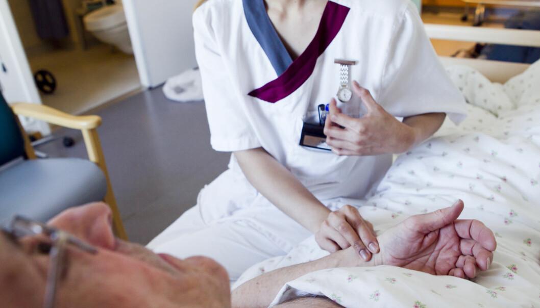 En ny studie viser at eldre personer med utviklingshemning i Norge ikke er innlagt oftere enn resten av befolkningen.  (Foto: Heiko Junge, NTB scanpix)