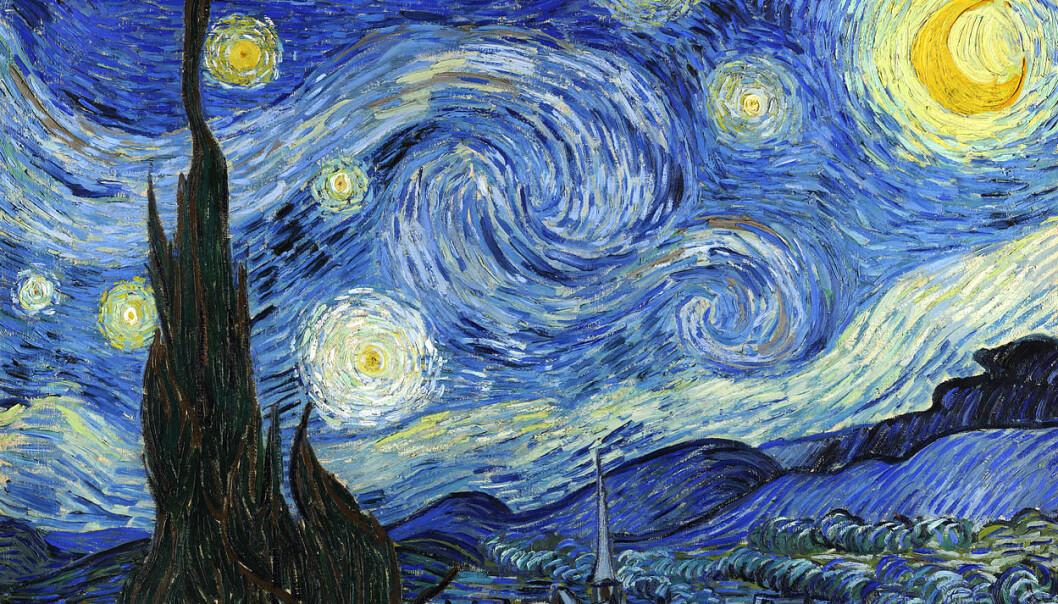 I Vincent van Goghs maleri stjernenatt flyter vår virkelighet sammen med en annen verden. Kanskje var han nærmere sannheten om universet enn noen hadde ant?  (Foto: Museum of Modern Art, tilgjengeliggjort av Wikimedia Commons)