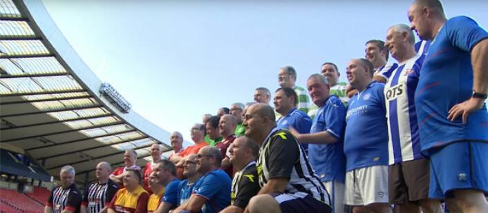 Europeiske fotballsupportere er klare for trening! Foto: EuroFIT