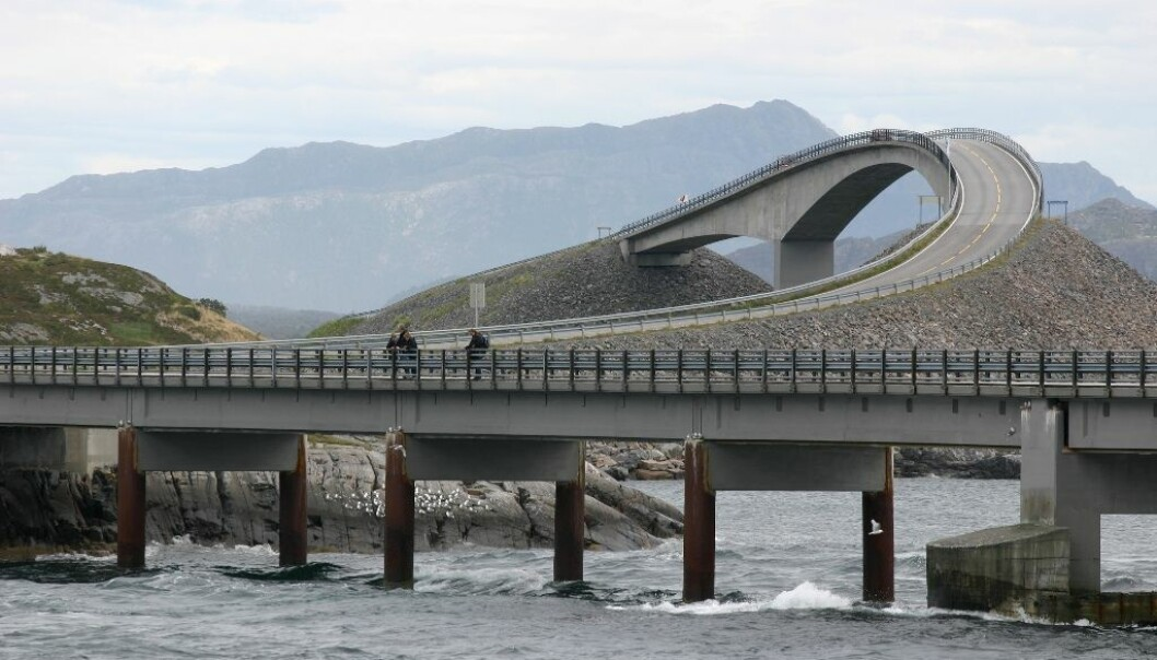 "Aesthetics and the way in which landscape is construed are still key elements in modern road design. The Atlantic Road, completed in 1989, was crowned the ""Norwegian Construction of the Century 1905–2005"". The UK newspaper The Guardian named it the world's best road trip. (Photo: Wikimedia commons)"