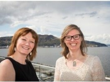 Beate Kvamstad (left) at  MARINTEK, project manager for the ASK user study  and Hege Lunde at Telenor Satellite Broadcasting, project Manager of the ASK project aimed at providing broadband across the Arctic. Photo: Thor Nielsen.