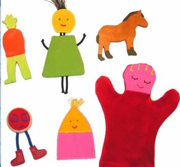 Barna lærte seg hva disse ulike dukkene het, som Bibbi og Titti. De kunne dermed skille ordpar med bare en bokstavs forskjell lettere fra hverandre. Slik som forskjellen på b og t. Dukkene er egentlig utviklet for pedagogisk hjelp til barn med Downs syndrom. (Foto: (Marias Verkstad.com))