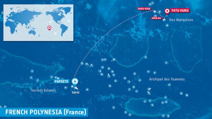 Korallrevene på Fatu Huku i Fransk Polynesia i det sørlige Stillehavet skal undersøkes av dykker og miljøsatellitten Sentinel-2. (Foto: ESA)