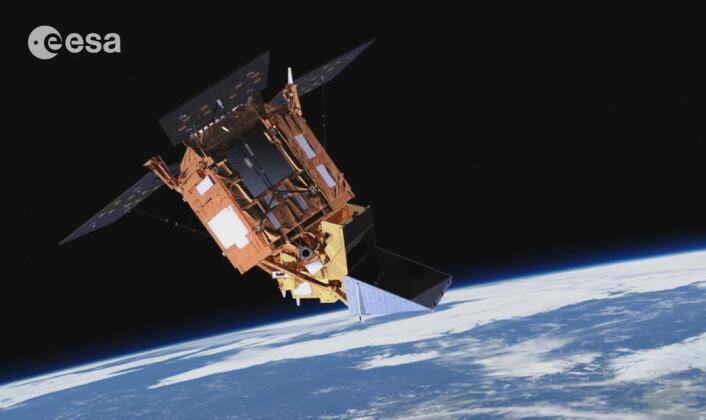 Sentinel-5 Precursor er en forløper for Sentinel-5, som etter planen skal skytes opp i 2021. Den skal fylle tomrommet etter at miljøsatellitten Envisat sluttet å virke i 2012. Sentinel-5 er ikke en selvstendig satellitt. Det er heller ikke Sentinel-4, som skal opp samme år. De er instrumenter som sendes opp sammen med værsatellitter. Instrumentene skal måle jordas atmosfære, blant annet innholdet av ørsmå partikler, aerosoler. (Foto: (Illustrasjon: ESA/ATG medialab))
