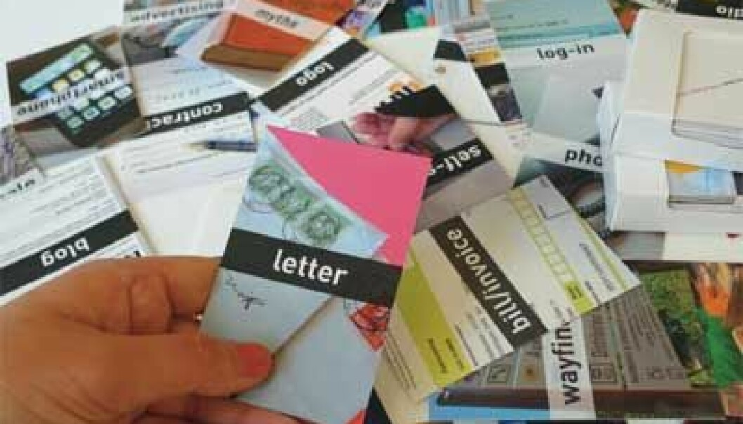 A card-based toolkit. (Photo: Simon Clatworthy, AHO)