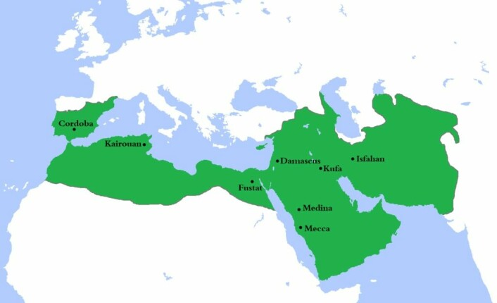 Umajjad-imperiet på sitt største. (Foto: (Bilde: Gabagool/CC BY 3.0))