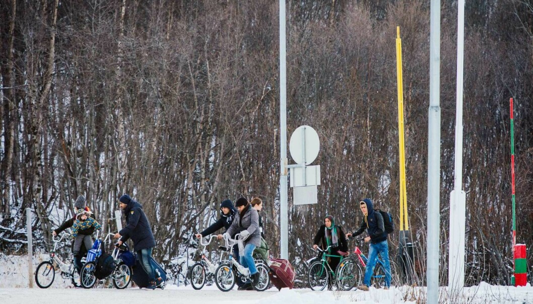 Det har eksistert former for kontroll av innvandrere i flere århundrer.  (Foto: Jonathan Nackstrand, AFP photo, NTB scanpix)