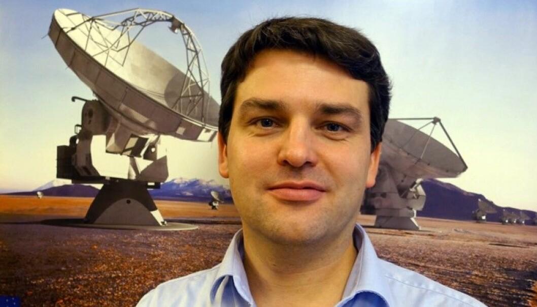 Forsker ved Institutt for teoretisk astrofysikk Sven Wedemeyer. (Foto: Anna Kathinka D. Evans, UiO)