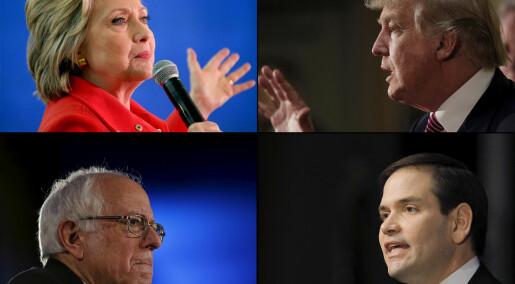 Forskere vil regne ut hvem som blir USAs neste president
