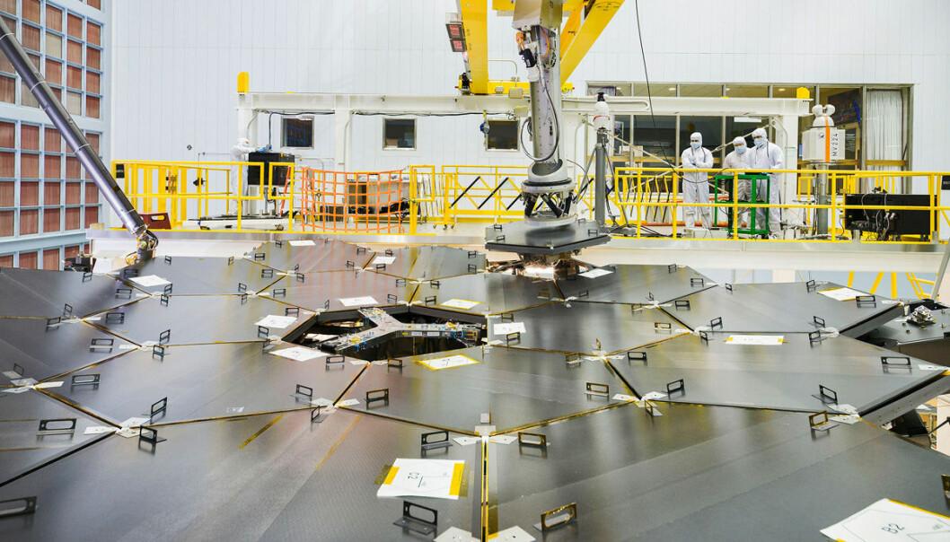 Romteleskopet James Webb tar form