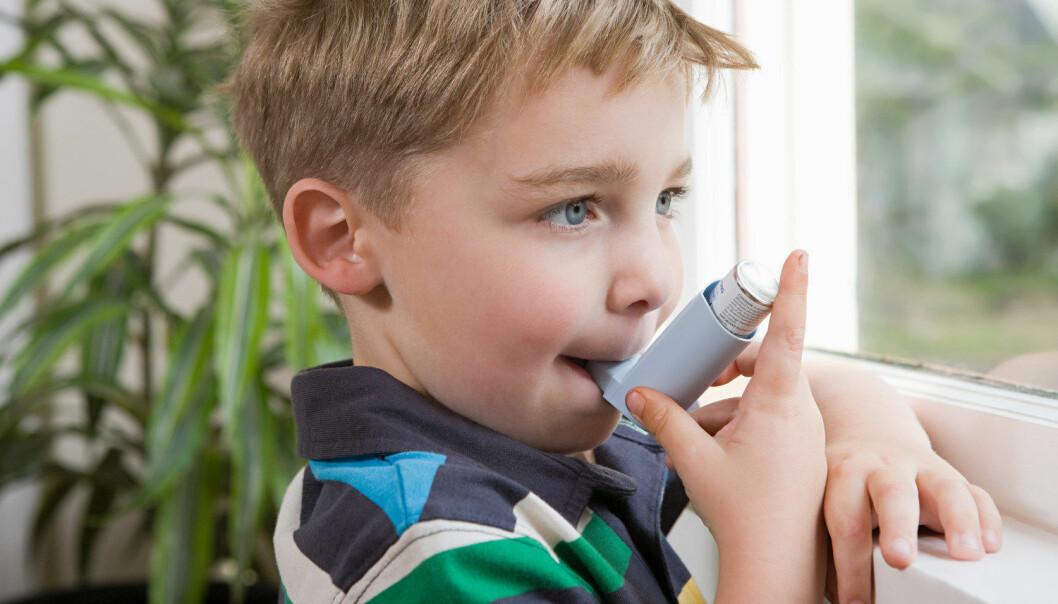 Barn har noe økt risiko for å få astma dersom moren har brukt paracetamol i svangerskapet. Risikoen øker også hvis barnet selv har fått paracetamol i sine første levemåneder, viser ny norsk studie.   (Foto: Image Source/NTB Scanpix)