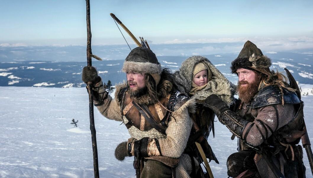 I kong Håkon Håkonssons liv (1204-1263) er flukten fra baglerne det vi vet aller minst om. Men mytene rundt den farlige skituren med babykongen, ble allerede i hans egen tid på 1200-tallet brukt i kongens og birkebeinernes imagebygging.  (Foto: Ian Brodie / Paradox Film)