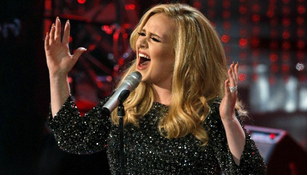 Bildetekst: Når Adele synger toner som ikke burde være menneskelig mulig å lage eller når gitarsoloen går amok, kan det fremkalle gåsehud hos mange. Det finnes en evolusjonær forklaring på dette, mener forskerne. (Foto: Reuters/Mario Anzuoni/Files/NTB Scanpix)