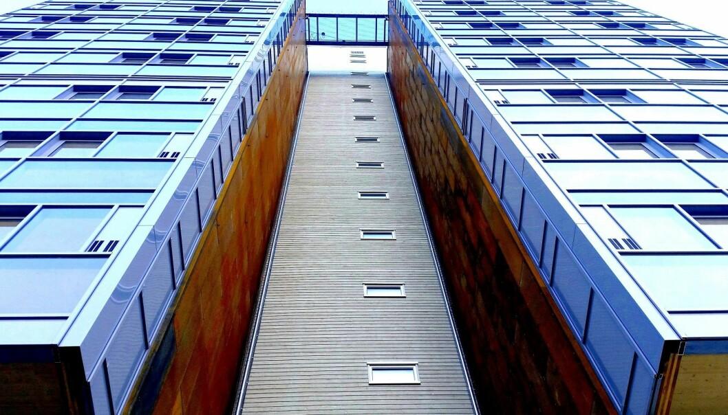 Modulbygg ikke trenger å se ut som en skoeske. Dette trehuset har 14 etasjer. (Foto: BOB)