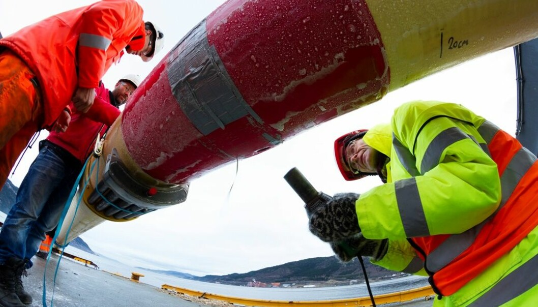 At Orkanger, 250 metres of pipe will be deployed in the sea for testing. (Photo: SINTEF)