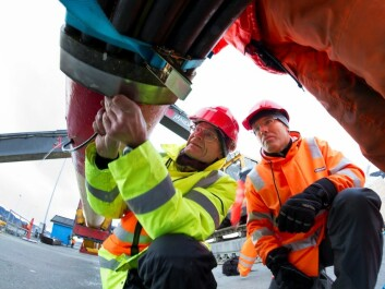 This is just a small fraction of the length of a real oil pipeline, many of which are more than 100 kilometres long. (Photo: SINTEF)