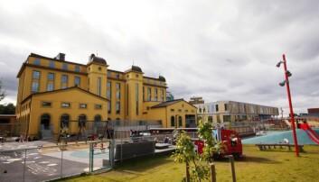 Mange foreldre er redde for at barna ikke skal ha det bra i store barnehager. Barnehagen Margarinfabrikken i Oslo kan på det meste ha rom til 500 barn. (Foto: NTB Scanpix)