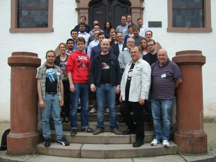 "Deltagere på seminaret ""Quality of Experience: From User Perception to Instrumental Metrics"". (Foto: Schloss Dagstuhl)"