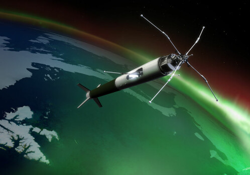 Going after the aurora with rockets