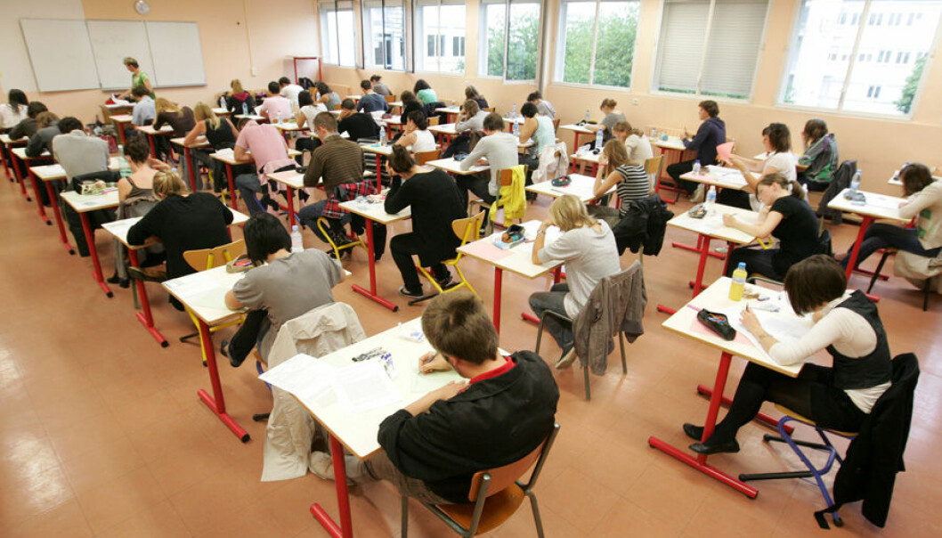 The traditional classroom teaching is under threat by open-plan schools. (Photo: Espen Winther)