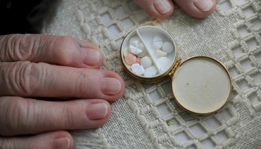 En studie av eldre pasienter i Vestfold viser at bruken av legemidler som sløver hjernen, gikk ned da pasientene ble innlagt på sykehus. Det gleder forskerne. (Foto: Frank May, NTB scanpix)