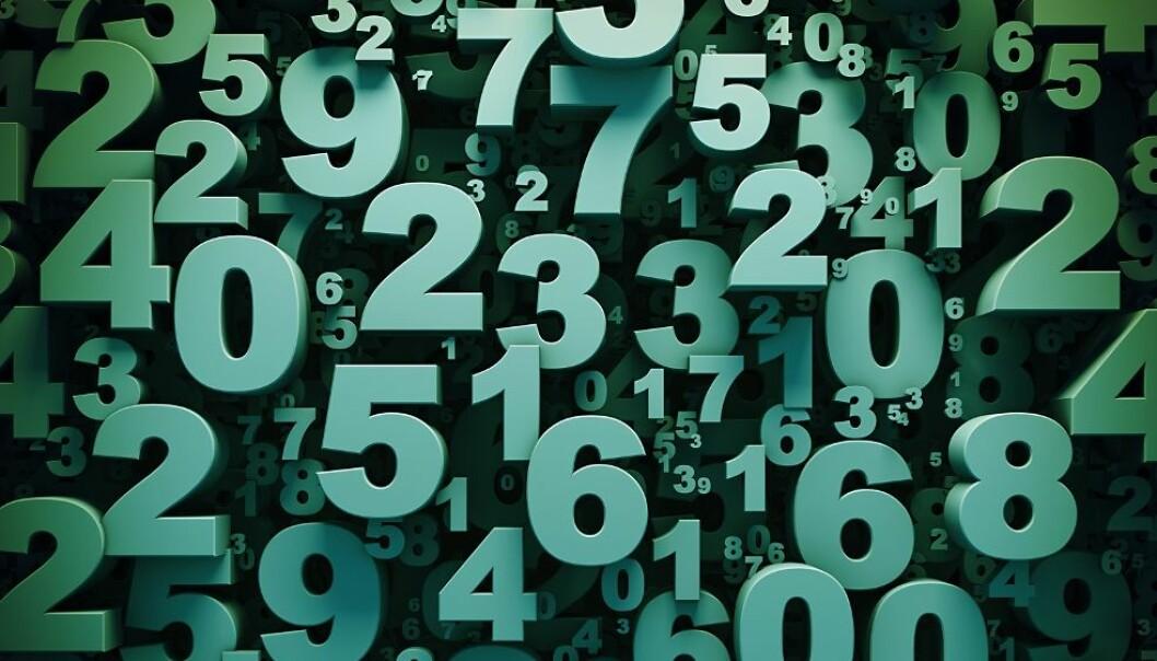 Verdens foreløpig største primtall er en tallrekke på 22,3 kilometer, hvis hvert siffer er bare én millimeter stort. Dette bildet er tenkt som illustrasjon og representerer ikke primtallet. (Illustrasjon: 123dartist/Shutterstock/NTB scanpix.)