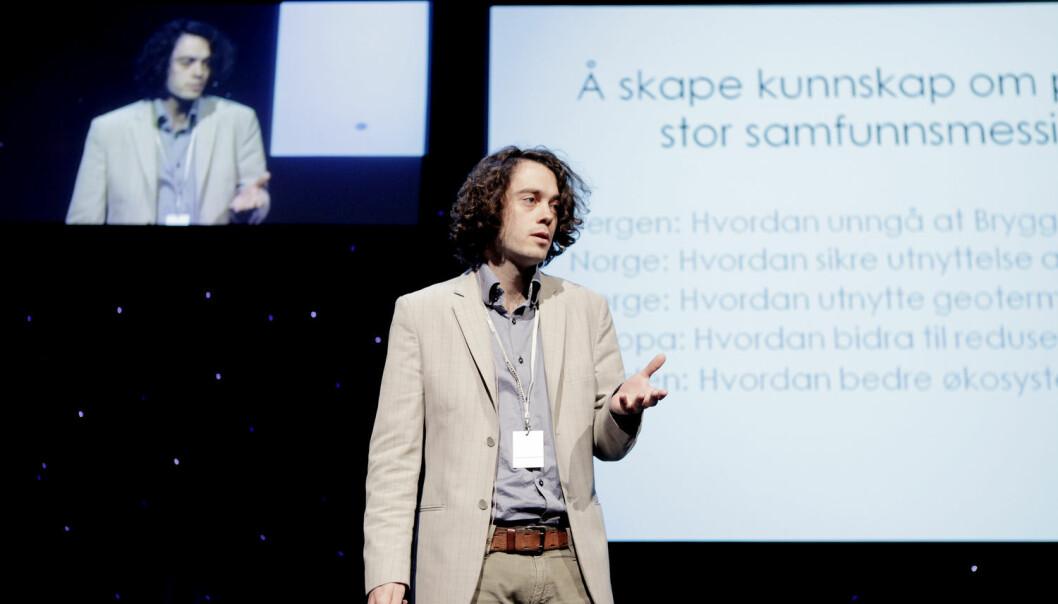 Matematikkprofessor Jan Martin Nordbotten, kjent fra TV-serien «Norges smarteste» på NRK, leder et av prosjektene som nå har fått penger. (Foto: Paul Sigve Amundsen, Samfoto, NTB scanpix)
