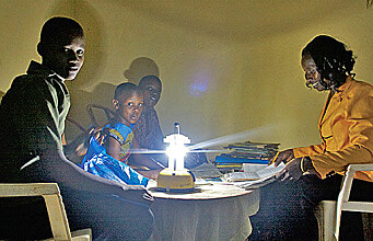 Solar energy provides electricity in remote areas