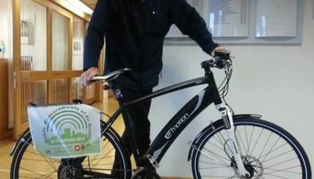 An electric bike fitted with a sensor. (Photo: Unik)