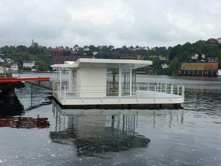 En av modulene til den planlagte gjestehavna. (Foto: (Bilde: Meyer Norschau Design))