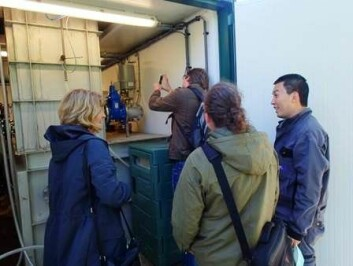 Container med demoanlegg. (Foto: SINTEF)