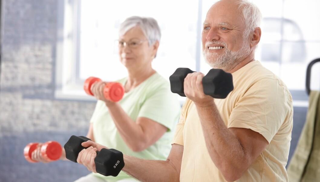Å trene gir mange positive helseeffekter som gjør at vi lever lengre. Nå vil forskere utvikle en pille som gir de samme helseeffektene. (Illustrasjonsfoto: Shutterstock, NTB scanpix)