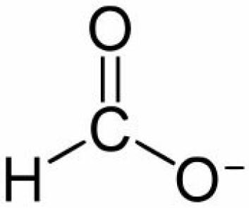 Kinesiske forskere kan konvertere CO2 til formiat (HCOO−), som er en salt av maursyre. Men maursyre er ikke et godt drivstoff, ifølge en dansk forsker.  (Foto: (Illustrasjon: Yikrazuul))