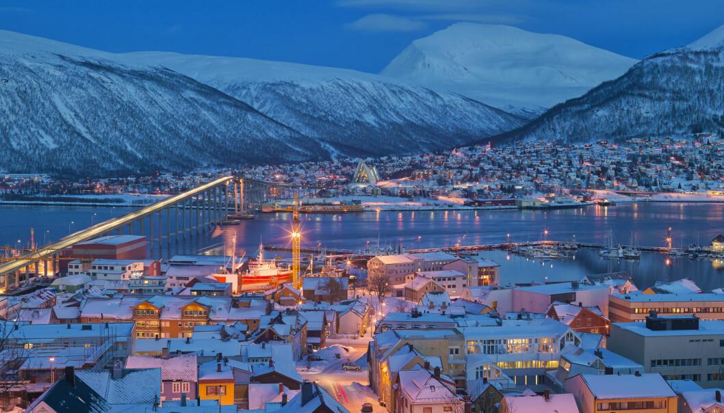 Etter hvert gikk det opp for Kari  Leibowitz at vinteren i Tromsø ikke er noe innbyggerne bare må tåle seg gjennom, slik det er i New Jersey. Det er en tid med snø, skigåing, stearinlys, hytteturer, peisbål, blåtime og nordlys. (Foto: Bård Løken, NN, Samfoto, NTB Scanpix)