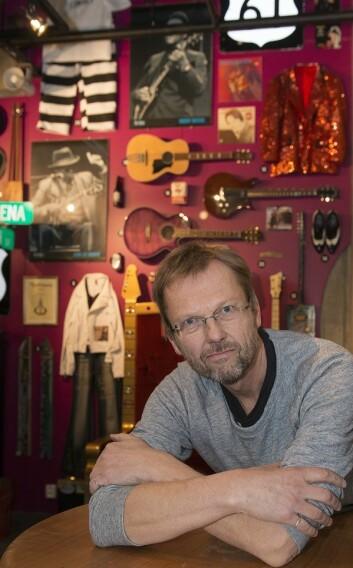 Notodden Blueseum er et opplevelsessenter forteller daglig leder av Europas Blues Senter på Notodden, Espen Fjelle. (Foto: Ole Bjørn Ulsnæs)